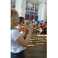 Our brass players played Hot Cross Buns.