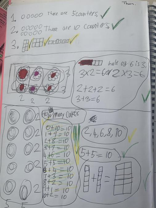Mimi had a busy week practicing her maths.