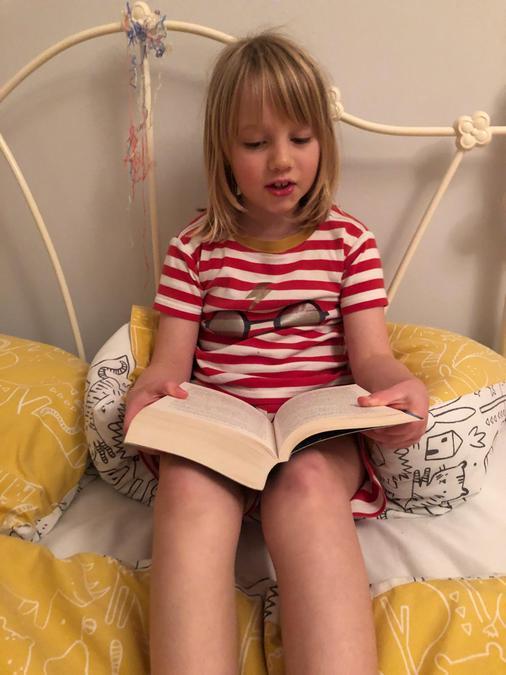 Reading in pyjamas