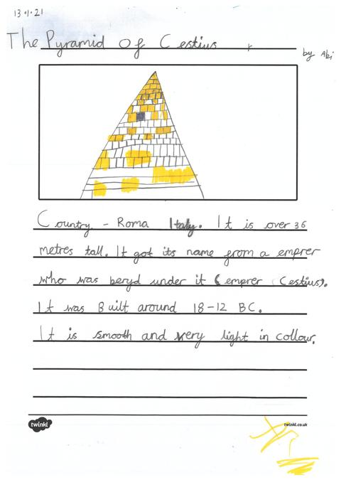 Abi's page about pyramids across the world .