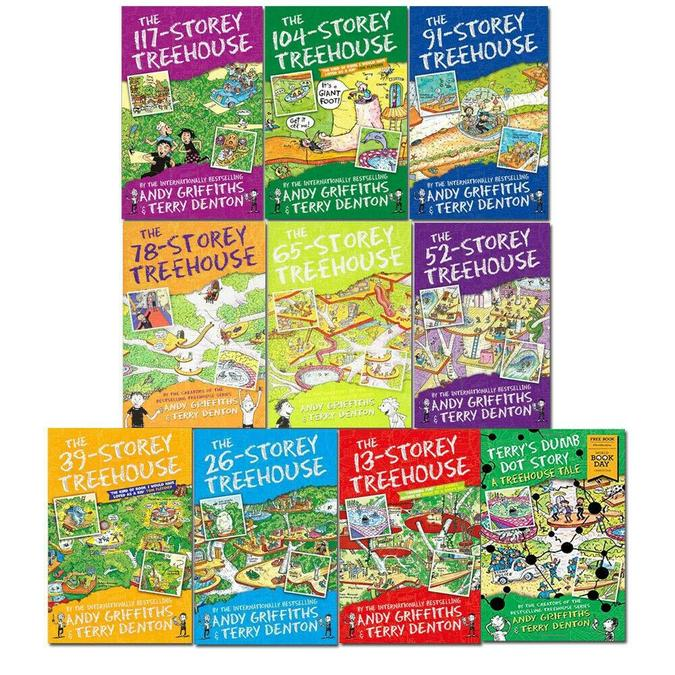 The whole 13-Storey Treehouse series!