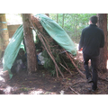 Adam tested our shelters for waterproof rating.