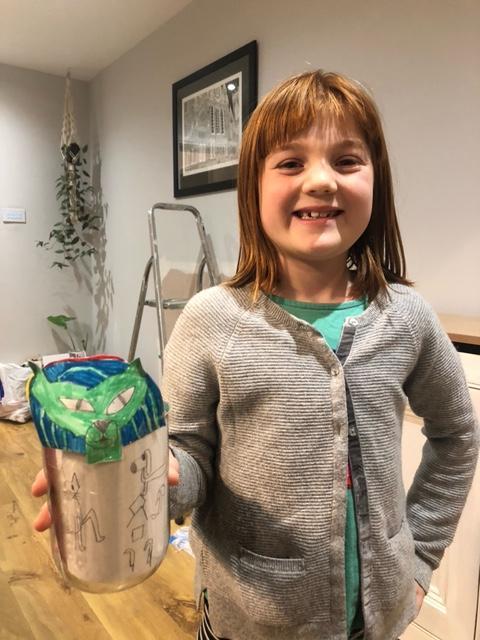 Look at Eva's amazing canopic jar!