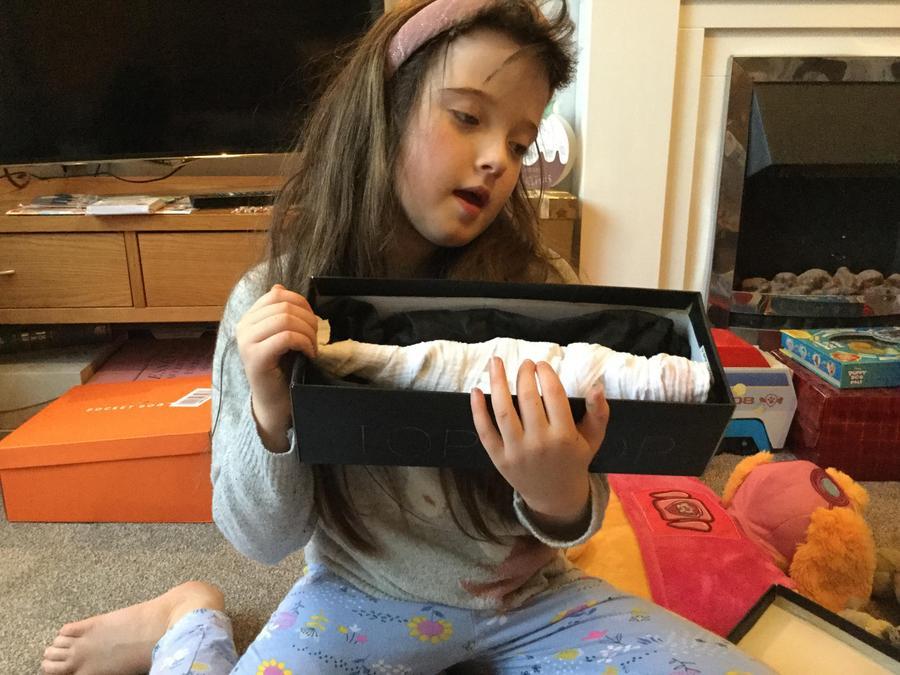 Clara has made a Mummy in a sarcophagus!