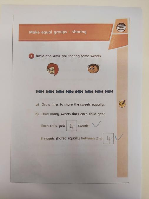 Great work working out numbers into equal groups by Olivia- Part 1