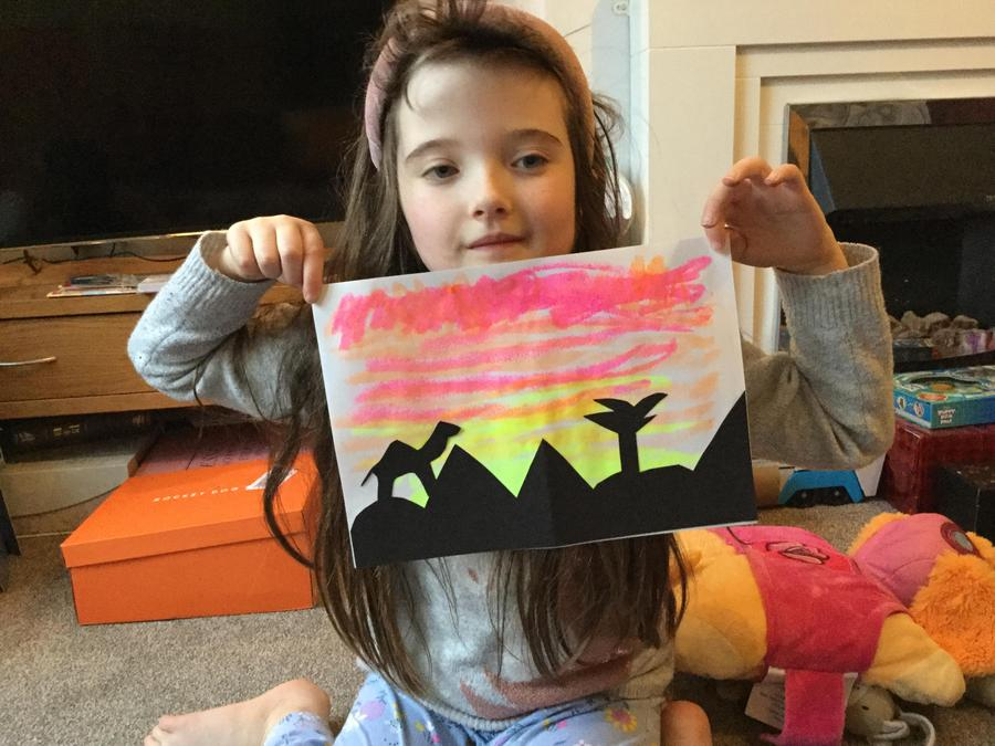A fantastic silhouette picture by Clara.