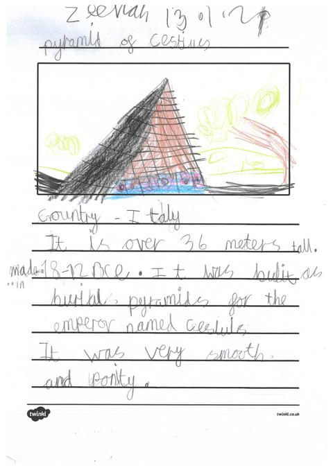 Zeenah's page about pyramids across the world.