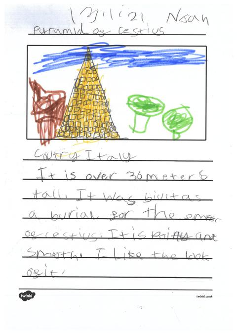 Noah's page about pyramids across the world.