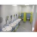 Toilet area.