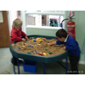 Having fun while learning and playing together.