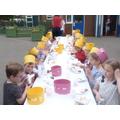 Enjoying the tea party