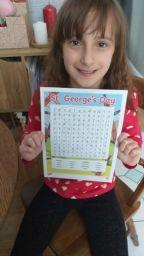 St George's day wordsearch by Emily.
