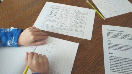 Dominic has been doing his fractions work
