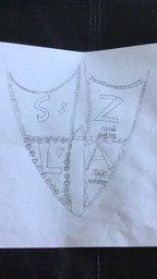 I love the shield Sienna has drawn