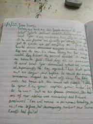 Great job with the diary writing, Tatiana