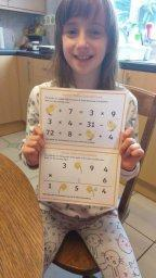 Emily enjoyed the maths challenges too
