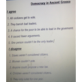 LR chooses his important points on Greek Democracy