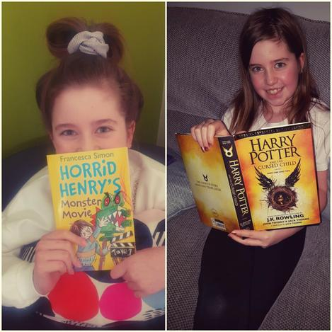 Here she is with her first and last books. Well done Sadie!