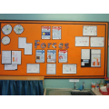 Class 7's cross curricular maths & science display