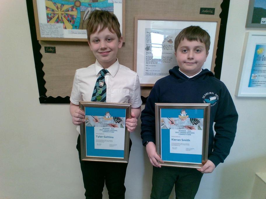 KS2 Winners - Tyler/Kieran.