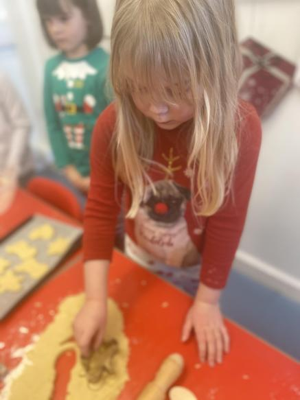 Making shortbread to enjoy during 'The Polar Express