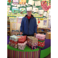 Mr Turnbull collecting our Christmas Shoe Boxes
