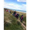 Through the dunes to Bamburgh Castle