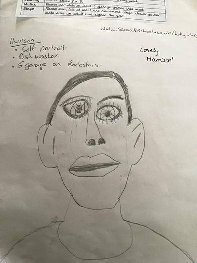Harrison's self-portrait.