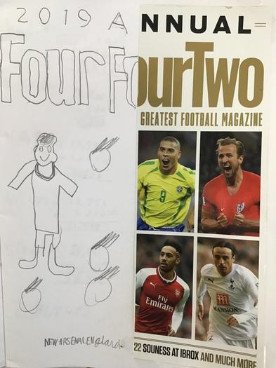 James' magazine cover.