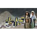 Mary and Joseph travel to Bethlemhem