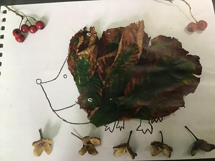 Olivia's autumn collage.