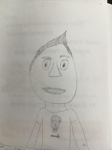 Gabriel's self-portrait.