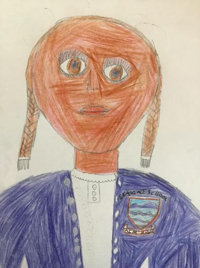 Jasmine's self-portrait.