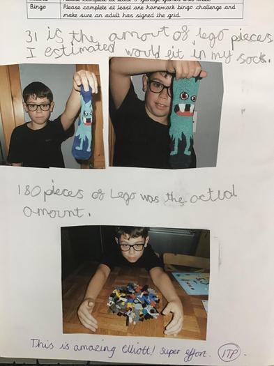 Elliott's sock challenge