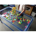 Split digraph words in the water tray.