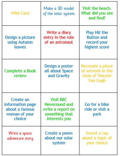 Year 5 Homework Grid