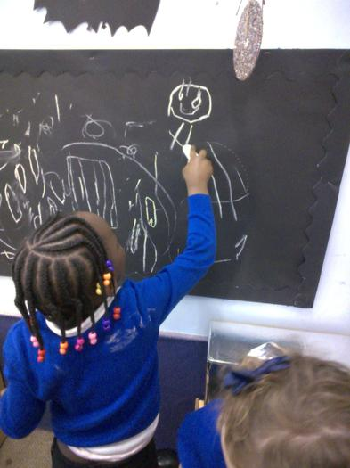 Practising our writing skills by writing magic spells