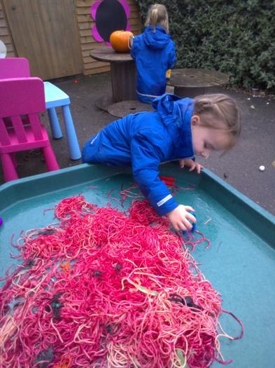 Exploring new textures - 'worm' spaghetti!