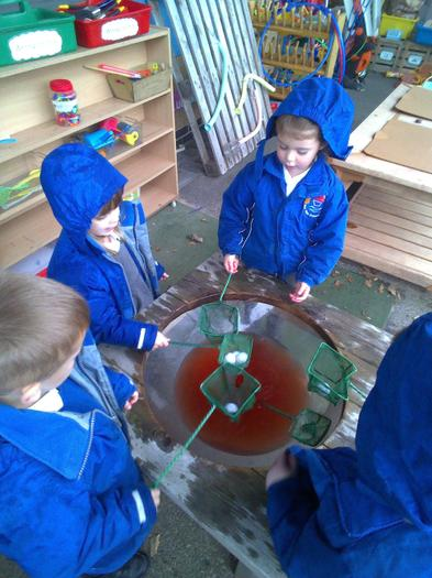 Catching eyeballs in the witch's soup!