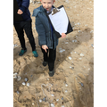We looked at plastic pollution on our local beach!