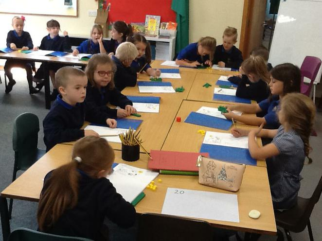 We have been using maths equipment.