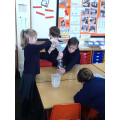 We made our own measuring bottle.