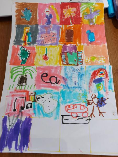 Evelyn's art challenge