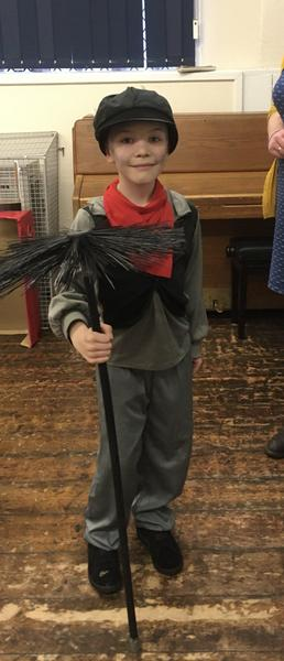 World Book Day Winner the Chimney Sweep from Mary Poppins, Ted Y1