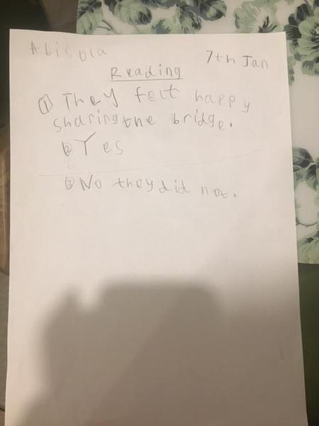 Abisola's reading work