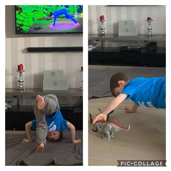 Harry doing yoga