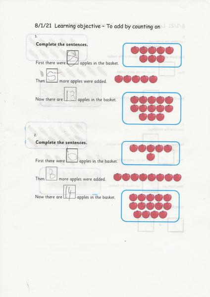 Leo's super maths work