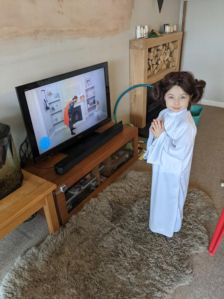 Princess Leia completing PE