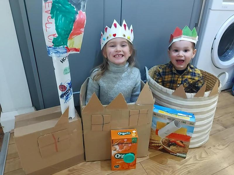 Evelyns 3d castle making