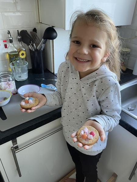 Evies topic biscuits making